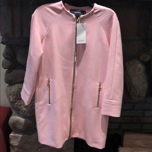 Zara Basic NWT Pink Zip Jacket